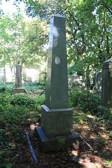 The grave of Count Valerian Krasinski, Warriston Cemetery.JPG