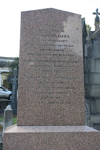 William Williams (Radical politician) - The grave of William Williams MP, Kensal Green Cemetery