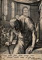 The hunchbacked woman cured by Christ. Engraving by J.P. Sae Wellcome V0034859.jpg