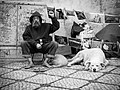 The man, his dogs and his art work (28401497956).jpg