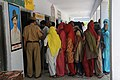 The voters in a queue waiting for their turn to cast the votes at a polling booth of Kakroi village, in Sonepat, Haryana during the 4th Phase of General Election-2009 on May 07, 2009.jpg