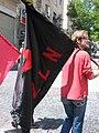 The zapatista flag in jerusalem (2458972097).jpg