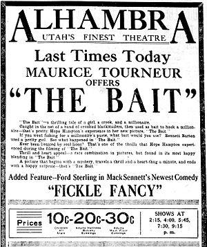 The Bait (1921 film) - Contemporary newspaper advertisement