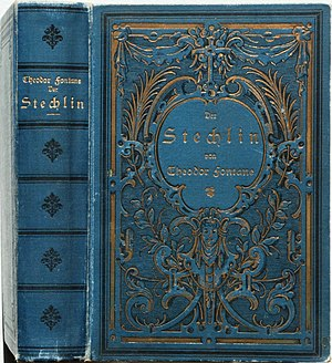 Hardcover - A typical hardcover book (1899), showing the wear signs of a cloth cover over the hard paperboards
