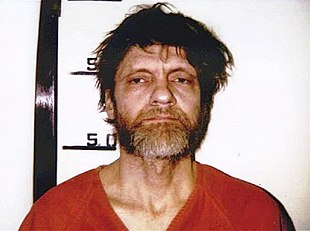 Kaczynski after his capture by police in 1996