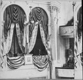 This is the private box in Ford's Theater, Washington, where President Lincoln was assassinated by John Wilkes Booth, on - NARA - 559275.tif