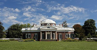 American gentry - Monticello, in Virginia, was the estate of Thomas Jefferson.