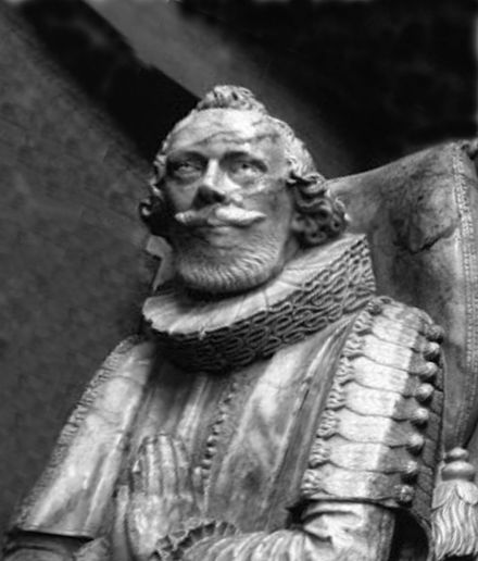 Monument to Ravenscroft at St John the Baptist Church, Chipping Barnet Thomas Ravenscroft 001.jpg