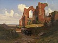 Thorald Læssøe - View of the Terme di Caracalla in Rome - KMS524 - Statens Museum for Kunst.jpg