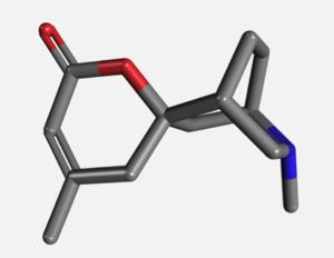 Dioscorine - Image: Three dimensional structure of dioscorine