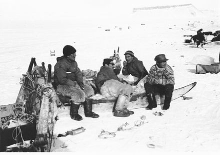 Inuit around the base worked with the U.S. Air Force to get to the B-52 crash. The sleds were the only way to get to the crash site. Thule Eskimos.jpg