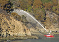 Tiburon Fire Department fireboat fights a fire on Angel Island, near San Francisco, 2008-10-13.jpg