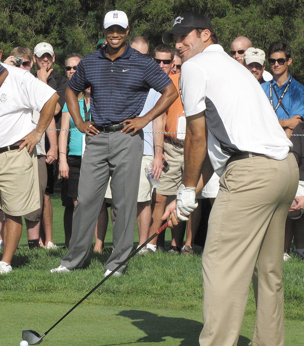 Tiger Woods and Tony Romo