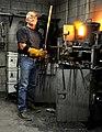 Tim Hancock Forging a Damascus Blade.jpg