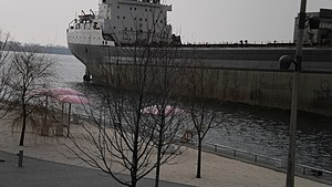 Tim S. Dool moored at the Redpath Sugar Refinery -a.jpg