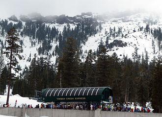 Kirkwood Mountain Resort - Image: Timber Creek Express Lift Kirkwood Mountain Resort Feb 2012