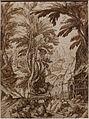 Tobias verhaecht, paesaggio boscoso con eremita che legge, 1590-1620 ca.jpg