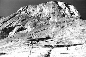 Big wall climbing - Image: Tom Frost Robbins ventures up 1961
