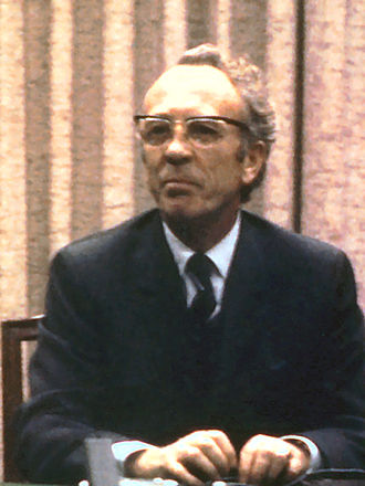 Saskatchewan general election, 1960 - Image: Tommy Douglas c 1971 crop