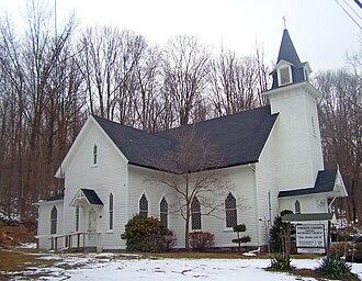 Putnam Valley, New York - Tompkins Corners United Methodist Church in Putnam Valley.