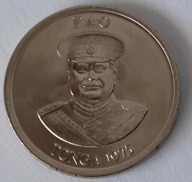 Tonga 10 Seniti 1975 back