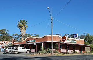 Toolleen Town in Victoria, Australia