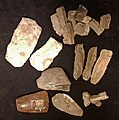 Top or Topic (CC, Maastricht), prehistorische werktuigen uit vuursteenmijn Rijckholt.jpg