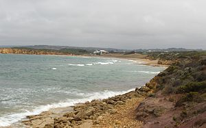Torquay, Victoria - View from Point Danger, looking towards the Torquay surf beach