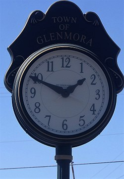 The clock in downtown Glenmora