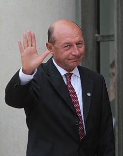 Traian Băsescu, at the International Conference in Support of the new Libya (cropped).jpg