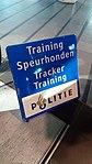 Training Speurhonden (Tracker Training) sign, Schiphol (2019).jpg