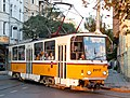 Tram in Sofia near Palace of Justice 2012 PD 007.jpg