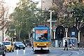 Tram in Sofia near St Nedelya Church 2012 PD 002.jpg