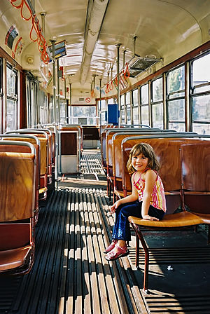Vienna old tram interior