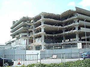 Tricorn Centre - Demolition of the Tricorn Centre, July 2004