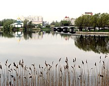 Troitsky-sobor Izhora river and Bridge.jpg