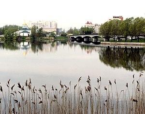 Kolpino, Saint Petersburg - Troitsky sobor, Izhora river, and the bridge