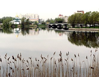Kolpino, Saint Petersburg - Troitsky sobor, Izhora river, and the bridge