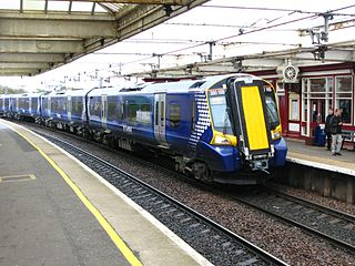 Ayrshire Coast Line line within the Strathclyde suburban rail network in Scotland