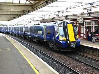 Ayrshire Coast Line - Class 380 train at Troon