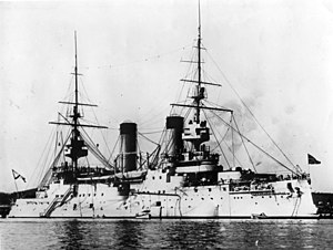 Russian battleship Tsesarevich - Image: Tsesarevich 1903France