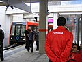 Tunisian sportsmen on the DLR - London Olympic games (7718729488).jpg