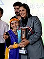 Two Afghan women basketball teams sponsored by Afghan Olympic Committee and the mayor of Kabul City, played an exhibition game as part of an International Youth Day Celebration at Kabul, Afghanistan, Aug 110810-A-XM924-357.jpg