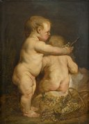 Two Naked Children with Grapes - Nationalmuseum - 17605.tif