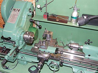 Model engineering - A typical small metal-turning lathe, as used by model engineers.