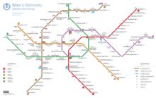 Subway Map Wall Art Endpoints.Vienna U Bahn Wikipedia