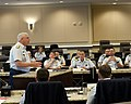 U.S. Coast Guard Vice Adm. John Currier, standing left, vice commandant of the Coast Guard, speaks during the Major Cutters Commanding Officers' Workshop at Joint Base Andrews, Md., April 23, 2013 130423-G-VS714-018.jpg