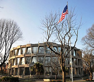 Ireland–United States relations - Embassy of the United States of America (Chancery) in Dublin, Ireland