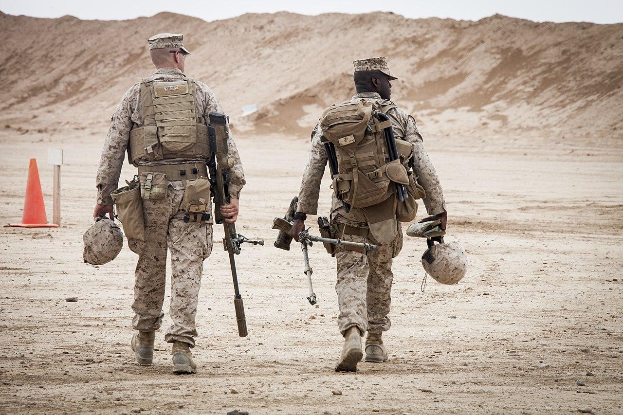 File:U.S. Marine Corps Cpl. Darek Kelsey, left, and Lance Cpl ...
