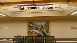 Naturkundemuseum (Berlin U-Bahn) - New design of the Naturkundemuseum station